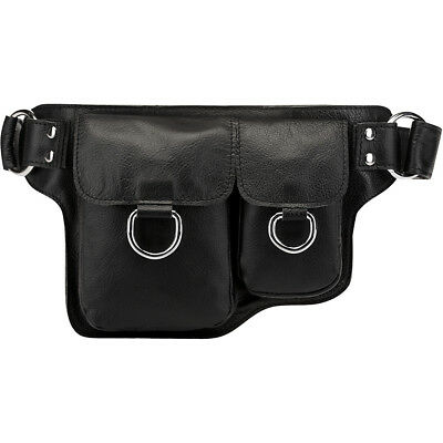 Vicenzo Leather Alvere Leather Waist Pack - Black