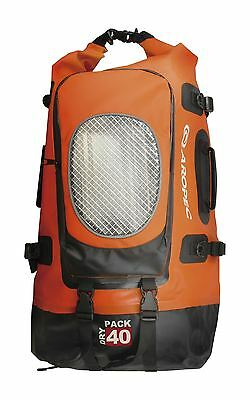 Aropec Breaker Waterproof Dry Backpack Roll Top Orange/Black 40 Litre Capacity