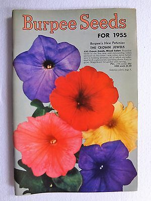 Vintage 1955 Burpee Seeds Flower & Vegetable Seeds Catalog Book