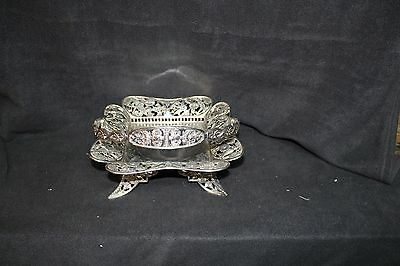 Antique Pairpoint Mfg Co Silverplate Brides Basket (No Glass)