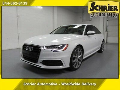 2014 Audi A6  14 A6 White Supercharged Bose Audio Blind Spot Monitor Heated Leather
