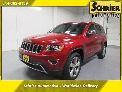 2014 Jeep Grand Cherokee Limited Sport Utility 4-Door 14 Jeep Grand Cherokee Red Leather 20 In Wheels Remote Start