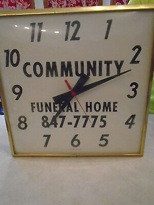 Community Funeral Home Wall Clock