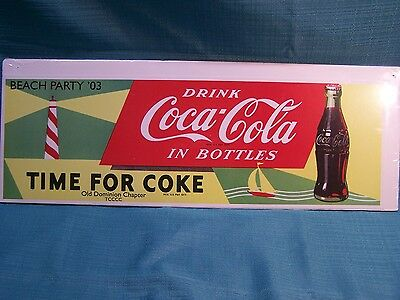 Colorful Coca Cola Coke Advertising Sign Summer Beach Party 03