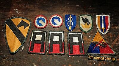 Vietnam War vintage lot of 11 U.S. Army SSI patch patches