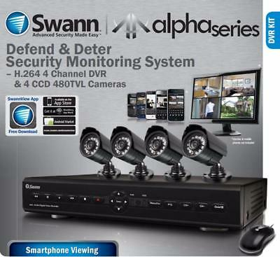 New! Swann Alpha D12C16 4-Channel Smartphone DVR with FOUR 480TVL Cameras