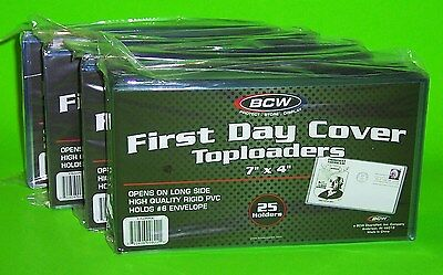 100 First Day Cover Toploaders, Rigid Pvc,archival Safe, 7 X 4, For #6 Envelope