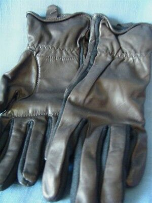 Women's New Casual Leather Gloves Brown Size Sm-M Lined