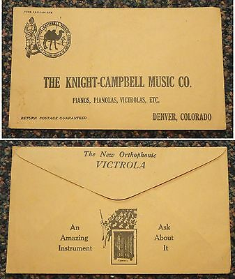 c1910 Denver Colorado Knight-Campbell Music Co Victrola phonograph ad cover