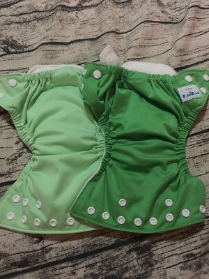 Lot Of 2 X-small Fuzzibunz Cloth Diapers With Inserts - 1 Never Use