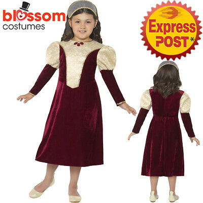 CK1035 Tudor Damsel Princess Costume Medieval Historical Fancy Dress Book Week