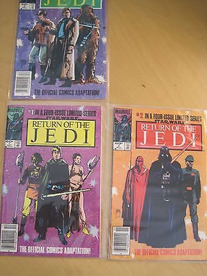 RETURN of the JEDI : #s 1,2, 3 (of 4 issue series). VFN - NM. 1983 MARVEL SERIES