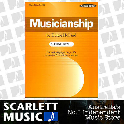 Musicianship Second Grade ( 2 / Two ) Book by Dulcie Holland - Revised Edition.