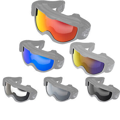 Black Granite Replaceable Replacement Anti Fog Anti Scratch Goggle Lens MX