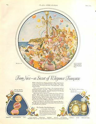 1924 Djer-Kiss Carnival At Nice On Riviera  Orig  Vintage Ad