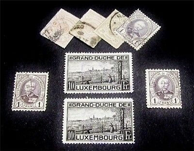 nystamps Luxembourg Stamp # 17 // 152a Used $77