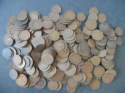 Lot of 305 Australia Large Penny & Half Penny Coins 1910s - 1950s