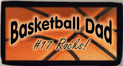Personalized Custom Basketball Dad Check Checkbook Cover Credit Card Holder NEW