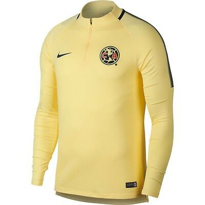 fff1a752176 Nike Club America DF Official 2017 - 2018 MidLayer Soccer LS Training Top  Yellow