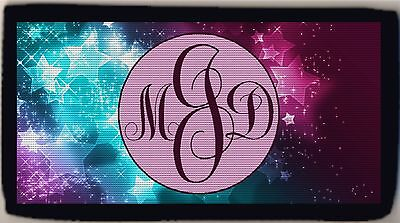 Personalized Custom Monogrammed Stars Astrology Solar Design Checkbook Cover NEW