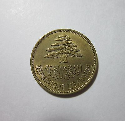 Lebanon. 25 Piastres, 1961. Uncirculated.