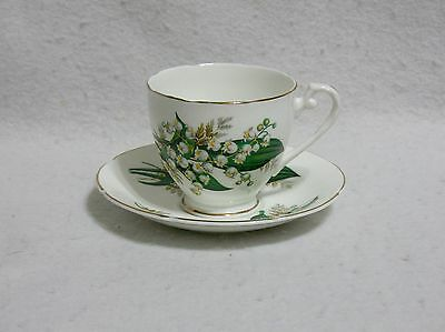 Royal Grafton Lily of the Valley Scalloped Edge Cup & Saucer
