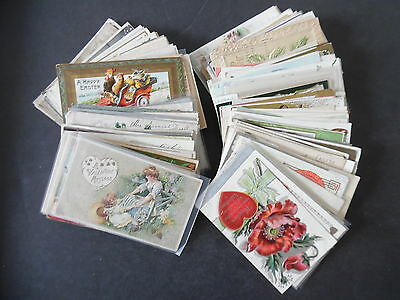 Lot of 200 Early 1900s Holiday & Greeting Postcards