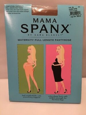 NIP Mama Spanx Maternity Full Length Pantyhose Nude Size B  New Made in USA