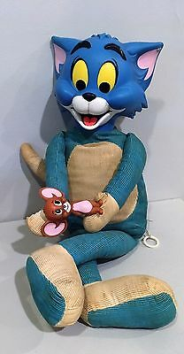 Vtg 60's Stuffed Toy Rubber Face Tom & Jerry Mattel Talking Cat Mouse Doll 1965