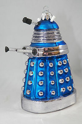 BBC's Dr. Who Daleks Hand Crafted Glass Christmas Tree Ornament new holiday