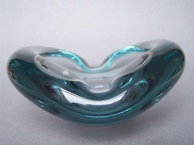 Extra Large Holmegaard Art Glass Clamshell Bowl Ashtray Per Lutken signed dated