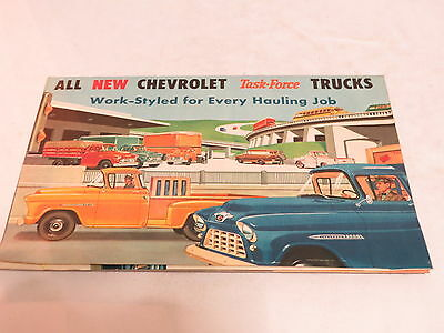 * Vtg New Chevrolet Task Force Trucks Automobile Brochure *