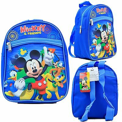 "Disney Mickey Mouse & Friends 10"" Mini Backpack Kids Canvas Besties Licensed New"
