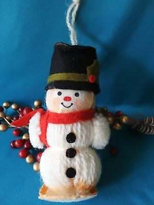 Hallmark Ornament  1975 Yarn Snowman Ornament