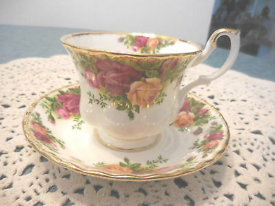 Royal Albert Old Country Roses Cup and  Saucer    Made in England
