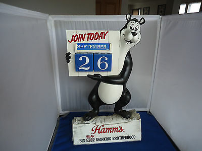 Hamms Bear Beer advertising bar sign figure calendar vtg man cave  not a bank