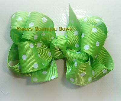 6 Pcs 4 inch Custom Double Layer Boutique Hair bow Lot You choose Colors/Clips