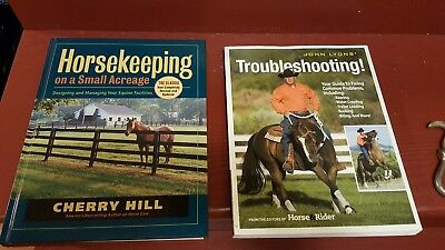 horse training - trouble shooting - care - 2 books