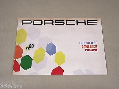 2008 RS60 Porsche Boxster Poster DNA Test Came Back Positive