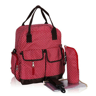 3PCS Multi-Function Nappy Diaper Bag Baby Maternity Messenger Insulated Holder