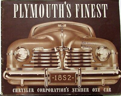 1942 Plymouth Special Deluxe and Deluxe Models Sales Brochure Original