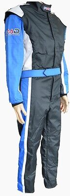 Karting race suit YOUTH MEDIUM size  BLUE/BLACK/SILVER
