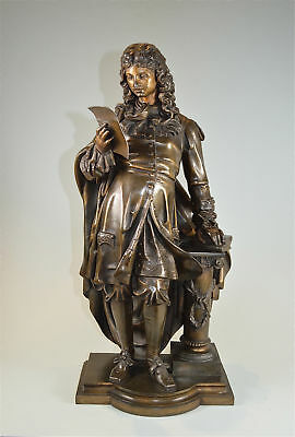 Large antique French spelter figure of Louis XIV Sun King circa.1890