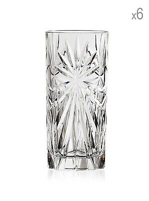 Set Of 24 RCR Italian Crystal Hi-Ball Tumblers Oasis Glass Gif/Presentation 36cl