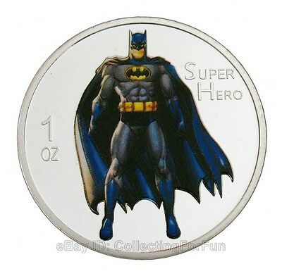 American Comic Superhero Batman Colored Silver Commemorative Coin