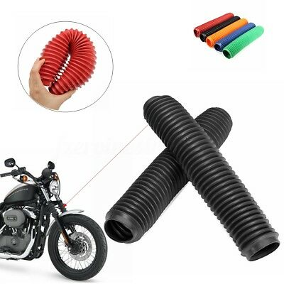 2X MOTORCYCLE FRONT FORK DUST COVERS GAITERS BOOTS 40MMx60MMx360MM RUBBER GAITOR