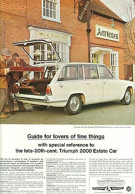 1966 Triumph 2000 Estate Colour Magazine Advert