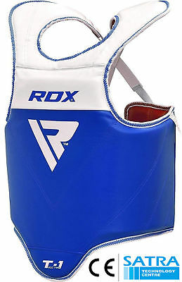 RDX Boxing Protector Chest Guard MMA Body Armour Training Kickboxing Shield Red