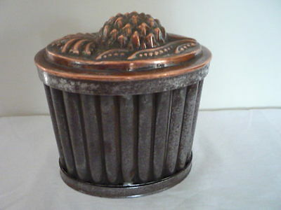 Large English Antique Tin And Copper Pineapple 3 Part Jelly Mould Kitchenalia