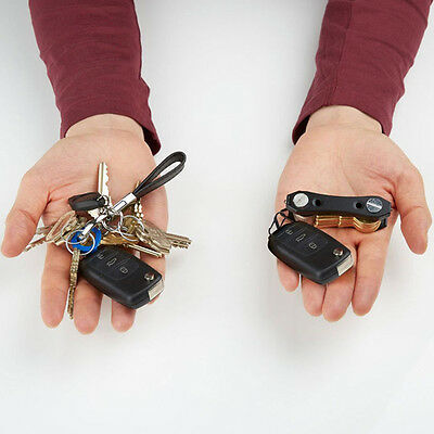 New Smart Keychain hard oxide Aluminum Key Holder Clip Folder Pocket Tool
